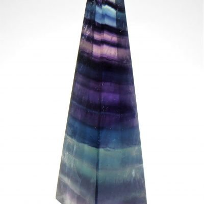 "Polished ""Rainbow"" Fluorite Obelisk from China"