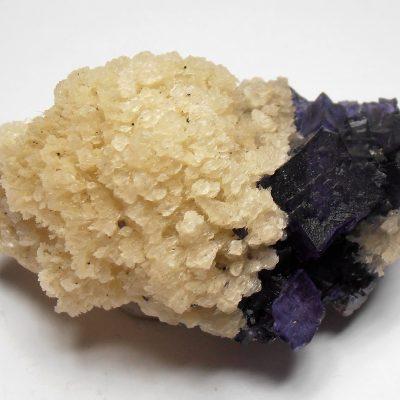Fluorites on Sphalerite with Barite - Elmwood Mine, Tennessee