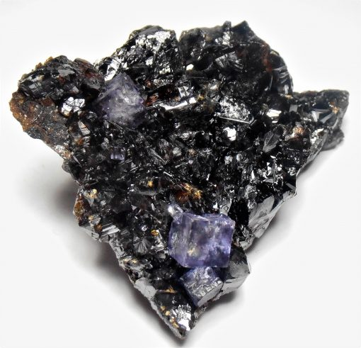 Sphalerite Crystal Plate with Fluorite from the Elmwood Mine