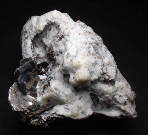 Albite - Large Skeletal Crystals with Mica & Tourmaline - Chia Mine
