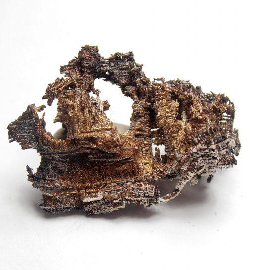 Silver - Lattice-Like Formations from the El Bonanza Mine