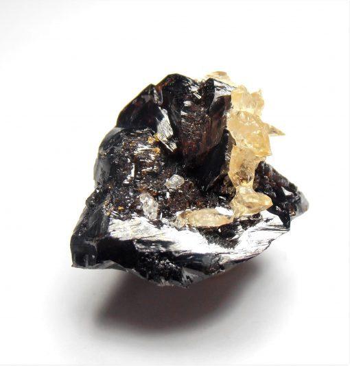 Calcite Crystals on Sphalerite - Elmwood Mine