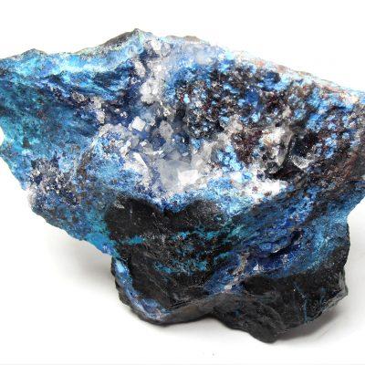 Shattuckite, Chrysocolla & Quartz from the Milpillas Mine