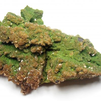 Conichalcite Crystals with Calcites From the Ojuela Mine