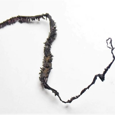 Silver - 90 mm Spinel Twinned Wire from Batopilas in Chihuahua