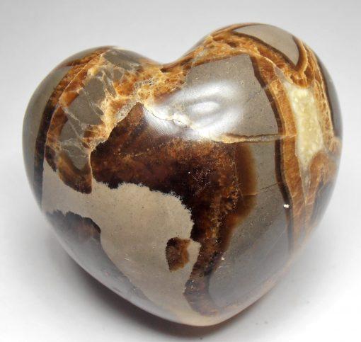 Septarian Nodule - Cut and Polished into a Heart Shape
