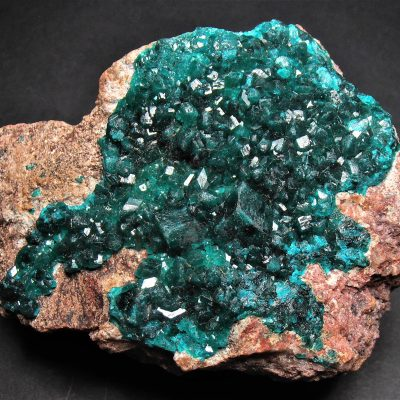 Dioptase Crystals from the Mindouli District, Pool Department